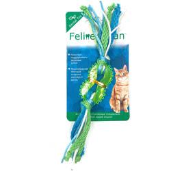 Feline Clean Игрушка для кошек Dental Колечко прорезыватель с лентами, резина