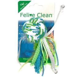 Feline Clean Игрушка для кошек Dental Мячик из каната, ленты и перья