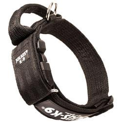 JULIUS-K9 Ошейник для собак Color & Gray, с закрытой ручкой, черно-серый
