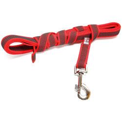JULIUS-K9 Поводок для собак Color & Gray Super-grip, без ручки, до 50 кг, красно-серый