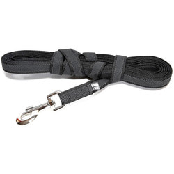JULIUS-K9 Поводок для собак Color & Gray Super-grip, с ручкой, до 50 кг, черно-серый