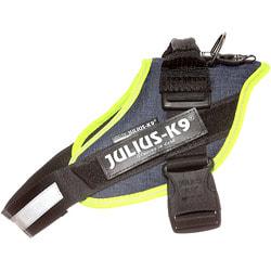 JULIUS-K9 Шлейка для собак IDC®-Powerharness, джинса-зеленый неон