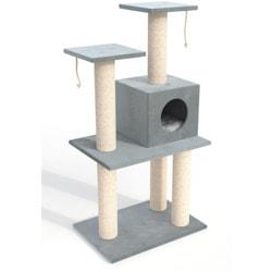 """ZooFit Игровой комплекс для кошек """"Big Hut"""" серый"""