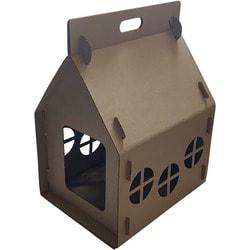 Антицарапки Картонный домик для кошек Теремок