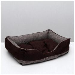 PerseiLine Лежанка Лофт Мокко пухлик темно-коричневая