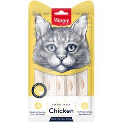 Wanpy Лакомство для кошек «нежное пюре» из курицы