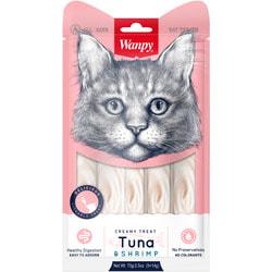 Wanpy Лакомство для кошек «нежное пюре» из тунца и креветок