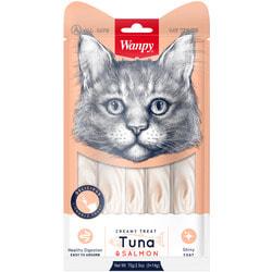 Wanpy Лакомство для кошек «нежное пюре» из тунца и лосося