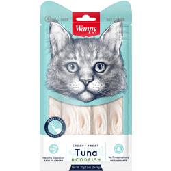 Wanpy Лакомство для кошек «нежное пюре» из тунца и трески