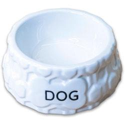 КерамикАрт Миска керамическая для собак DOG белая