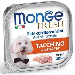 Консервы Monge Dog Fresh для собак индейка
