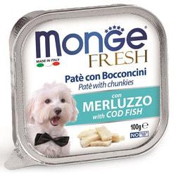 Консервы Monge Dog Fresh для собак треска