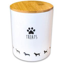 КерамикАрт Бокс керамический для хранения лакомств для собак белый