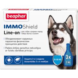 BEAPHAR Капли IMMO Shield Line-on от паразитов для собак средних пород