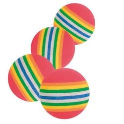 Trixie Игрушка для кошек радужные мячи 3,5см