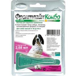 Boehringer Ingelheim Фронтлайн Комбо для собак – для защиты от клещей, блох в форме капель