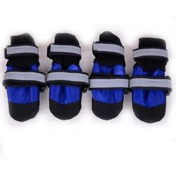 ForMyDogs Ботиночки-носочки водоотталкивающие синие на крупных собак, усиленный мысок