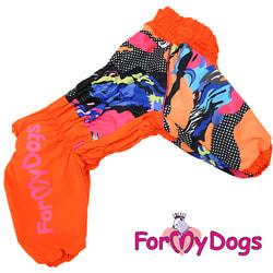 ForMyDogs Комбинезон для больших собак Оранжевый на меху, девочка
