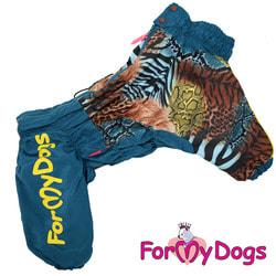 ForMyDogs Комбинезон для больших собак Тигровый на меху, мальчик