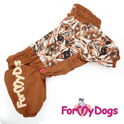 ForMyDogs Теплый комбинезон для больших собак Тигры на мальчика