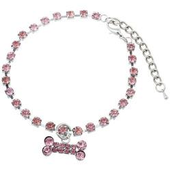 DooKiipet Ожерелье для собак Косточка розовая