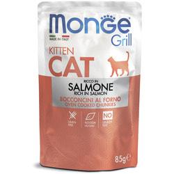 Monge Cat Grill Pouch паучи для котят норвежский лосось