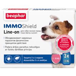 BEAPHAR Капли IMMO Shield Line-on от паразитов для собак мелких пород