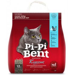 Наполнитель Pi-Pi Bent Classic для кошек натуральный комкующийся
