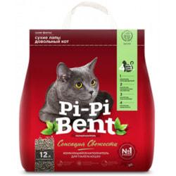 Наполнитель Pi-Pi Bent Сенсация Свежести для кошек комкующийся с нежным ароматом свежих трав и цветов