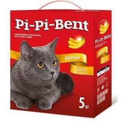 Pi-Pi-Bent Bananas комкующийся наполнитель с легким ароматом спелого банана
