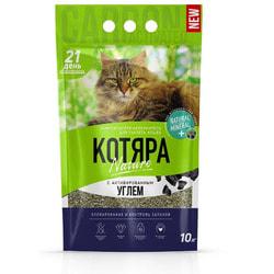 Наполнитель Котяра Комкующийся с активированным углем для кошек