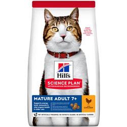 HILL'S Сухой корм для пожилых кошек с курицей. MATURE ADULT CHICKEN