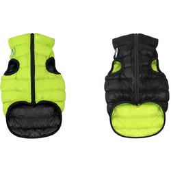 AiryVest Двусторонняя курточка для собак салатово-черная