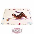 Trixie Коврик под миску белый Кошка