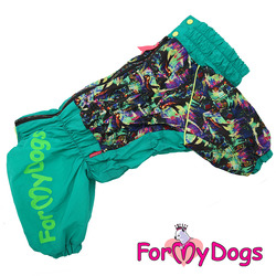 ForMyDogs Теплый комбинезон зеленый для девочек