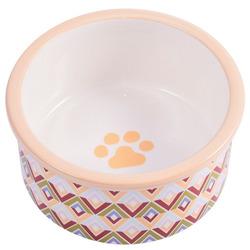 КерамикАрт Миска керамическая для собак с орнаментом