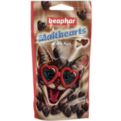 BEAPHAR MaltHearts - Сердечки с мальт-пастой для выведения шерсти из желудка кошек
