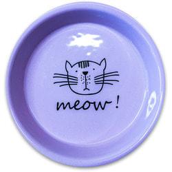 КерамикАрт Миска керамическая для кошек MEOW! 200 мл