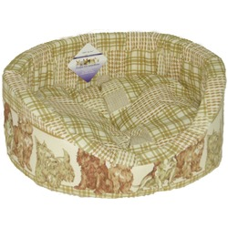 """Бобровый дворик Лежак с бортиком для собак из плотной ткани """"Собаки купон"""""""