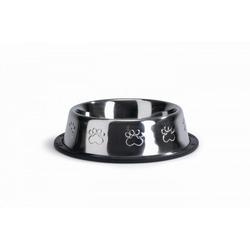Beeztees Миска стальная хромированная с лапками нескользящая для собак и кошек