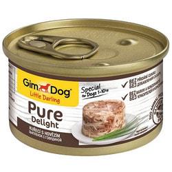 Консервы GimDog Pure Delight для собак из цыпленка с говядиной в желе