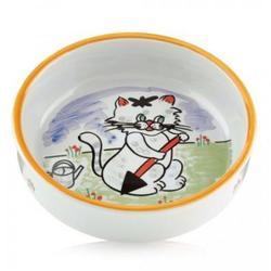 Beeztees Миска фарфоровая для кошек с изображением кошки