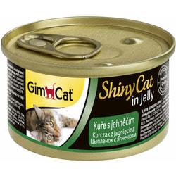Консервы GimCat ShinyCat для кошек из цыпленка с ягненком в желе
