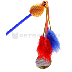 I.P.T.S./Beeztees Игрушка для кошек Дразнилка с шариком и с 6 помпонами