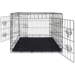 Lion Клетка двухдверная с пластиковым поддоном №5