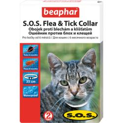 BEAPHAR S.O.S. Flea&Tick Collar Cat- Ошейник от блох и клещей для кошек