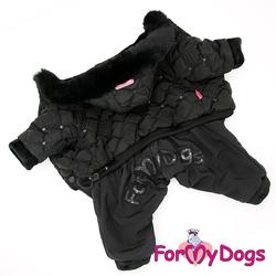 ForMyDogs Комбинезон зимний Черный для девочек