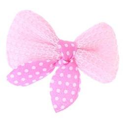 ForMyDogs Бантик-заколка для волос собак текстильный розовый