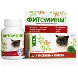 Фитомины Функциональный корм для пожилых кошек