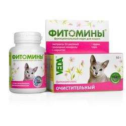 Фитомины Функциональный корм для кошек с очистительным фитокомплексом